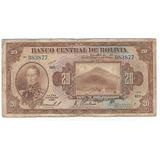 Bolivia - Billetes 20 Bolivianos 1928 - Buen Estado!!!