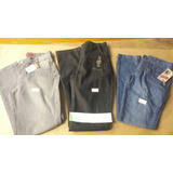Lote 003 Com 3 Calças Jeans E 1 Shorts Peças Novas