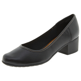 Sapato Feminino Salto Baixo Preto Azaleia - 748891