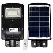 Luminária Solar Pública Led Poste Rua 50w Sensor Controle