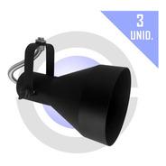 Spot Trilho Par30 Lampada Led Eletrocalha Perfilado 3 Unid