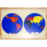 Set De 3 Mapas Montessori
