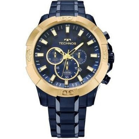 Relógio Technos Dourado Masculino Legacy Cronógrafo Js26af/4