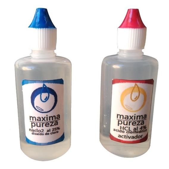Kit Potabilizador De Agua.clorito De Sodio25%  Activador Hcl