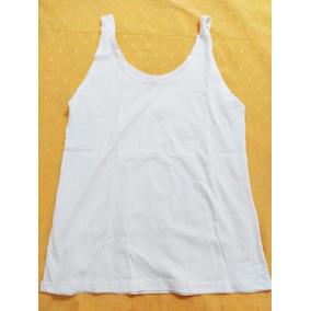 Pack 20 Musculosas Mujer Blanca Lisa