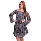 Vestido De Voil Crepon Doce Trama - Asya Fashion