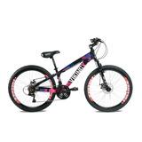 Bicicleta Viking Freeride Aro 26 Freio A Disco Preta/rosa