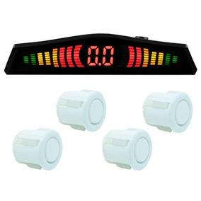 Sensor Estacionamento Re 4 Pontos Display Tech One Branco