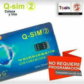 Q-sim Libera Desbloqueo Iphone P/cualquier Compañia 4s-7