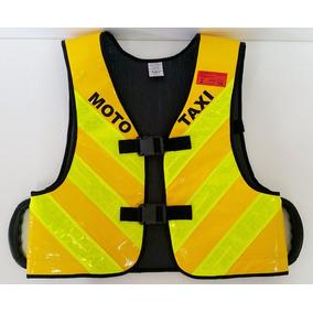 Colete Moto Táxi Selo Inmetro Com Alça + Visor P/ Propaganda