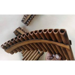 Flauta De Pan Pequena Madeira +manual Basico+cd Audio