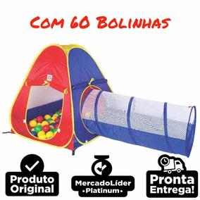 Barraca Cabana Toca Túnel Infantil 2x1 Piscina De Bolinhas