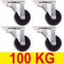 Rodízio Giratório Roda Rodinhas Para Móveis Vaso 100kg