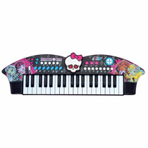 Teclado Musical Infantil Piano Skull Bat Monster High - Fun