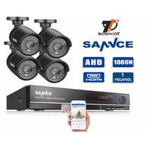 Kit Dvr Ahd 1080n 8 Canales 4 Camaras De Seguridad 720p 1mp