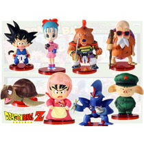 Muñecos Gashapones Dragon Ball Z. Set De 8 Con Base.wcf Dwc