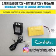 Bateria 7.2v 700mah + Carregador 7.2v (tamiya)