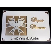 Caixa Personalizada Padrinhos Batizado Casamento Mdf Branco