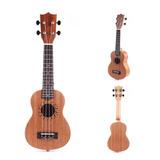 21 Guitarra Ukulele Acústico Soprano W/4 Cadena Sapelly