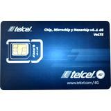 Chips Telcel 4glte Micro/nano V6.4 Lte Gdl Plan 50 Gratis