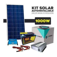 Kit Solar Con Inversor De 1000 W 220 V Y Batería Ciclo Profundo De 110 Ah Cortes De Luz Casas De Campo Usb Envío Gratis
