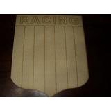 Escudo Racing Club En Fibrofacil Corte Laser 42x35cm