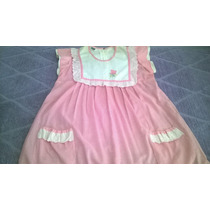 Vestido Futura Mamá A Cuadros Rosado