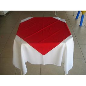 10 Toalha Quadrada De Mesa + 10 Cobre Mancha Bar Restaurante