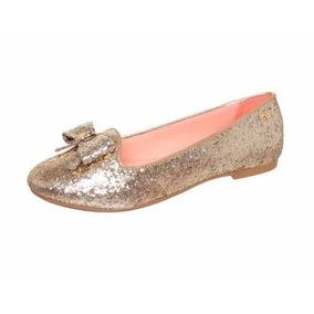 Slipper/sapatilha Glitter Dourado Petite Jolie Pj373