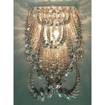 Plafon Lustre Cristal Acrílico Véu De Noiva Sala Escada Hall
