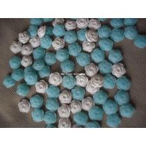 50 Mini Apliques Flores Porcelana Fria