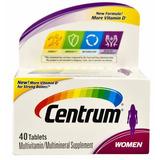 Centrum Mulher Multivitamínico 40 Tablets - Importado