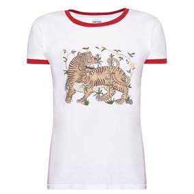 Remera Mujer Ay Not Dead Blanco 70s Tigre The Net Boutique