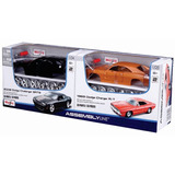 Maisto 1/24 Dodge Challenger Y Charger Metal Armar Decorados