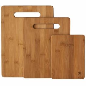 Totally Bamboo Tablas De Cortar Set De 3 Piezas