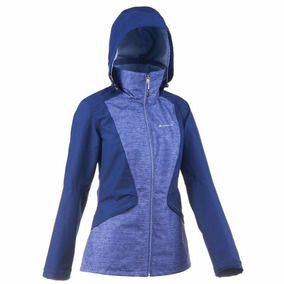 Chamarra Impermeable Transpirable Travesía Forclaz 100 Mujer