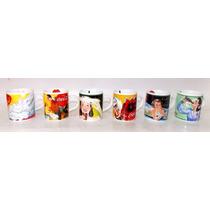 Coleção De Canequinhas Coca-cola Porcelana Italiana