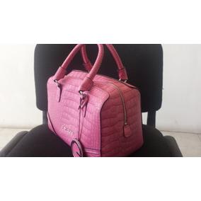 Hermoso Bolso Guess Original Rosa Palido Usado Impecable