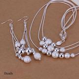 Set Joyas Conjunto Collar Arete De Plata 925