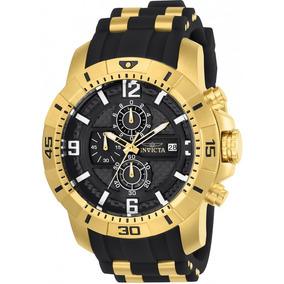 Relógio Invicta Pro Diver 24965 Original Preto Com Dourado