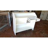 Balcão Caixa Recepção Loja Comercial Mdf Branco