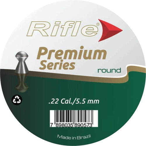 Chumbinho Rifle Premium Round 5.5 Mm 250 Un Super Box
