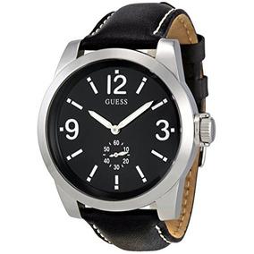 Relógio Guess Social Pulseira Couro Lacrado + Nf + Garantia