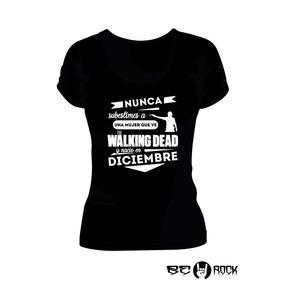 Remera Mujer The Walking Dead Vinilo Importado