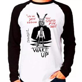 Camiseta Blusa Raglan Manga Longa Filme Donnie Darko Wake Up