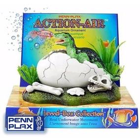 Accesorio Decoracion Huevo Dinosaurio Con Aereacion Pecera