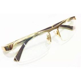 Armação Óculos Grau Cartier Feminina Dourada Sem Aro Retrô - Óculos ... 345fd95995