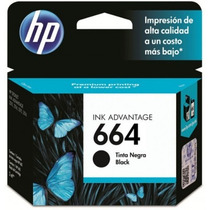 Cartucho Hp Negro Num 664 - Negro, Hp Deskjet Ink Advantage