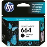 Cartucho De Tinta Hp 664 Negro F6v29al Original