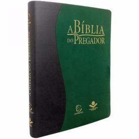 Bíblia Do Pregador - Cp Luxo Verde E Preta - Ra